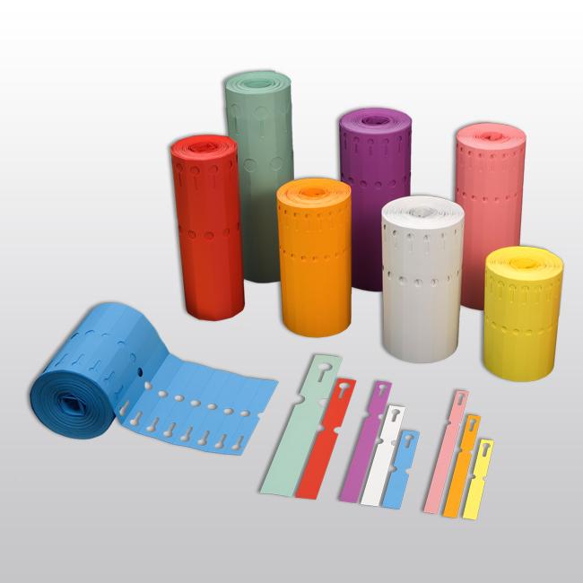 Schlaufenetiketten aus PVC, 200 x 20 mm, matt, 1.000 Etiketten je Rolle