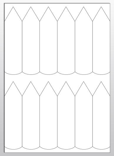 Stecketiketten aus PET Folie 200µ, 35 x 135 mm, weiß, 100 Blatt pro Packung