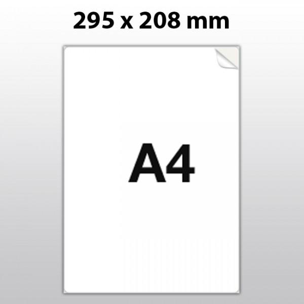 Klebeetiketten aus PET Folie, A4, 208 x 295 mm, weiß matt, 100 Blatt pro Packung