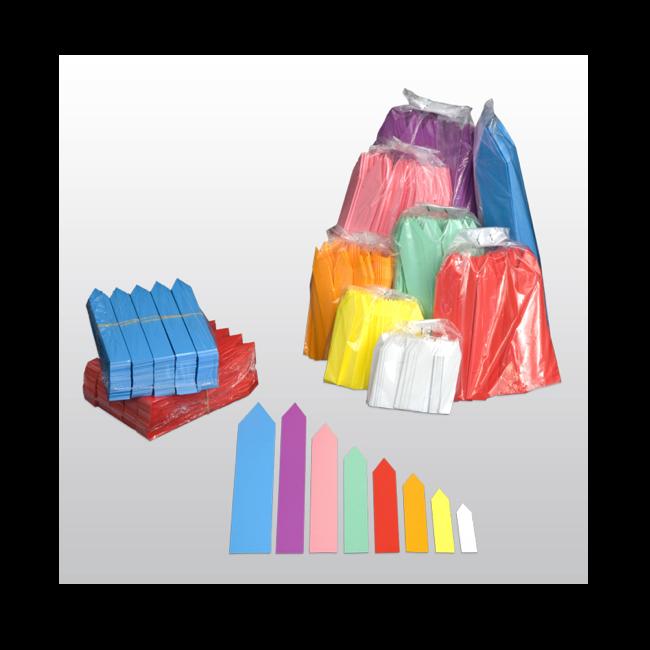 Stecketiketten aus PVC Folie 350µ, 20 x 140 mm, 500 Etiketten pro Beutel