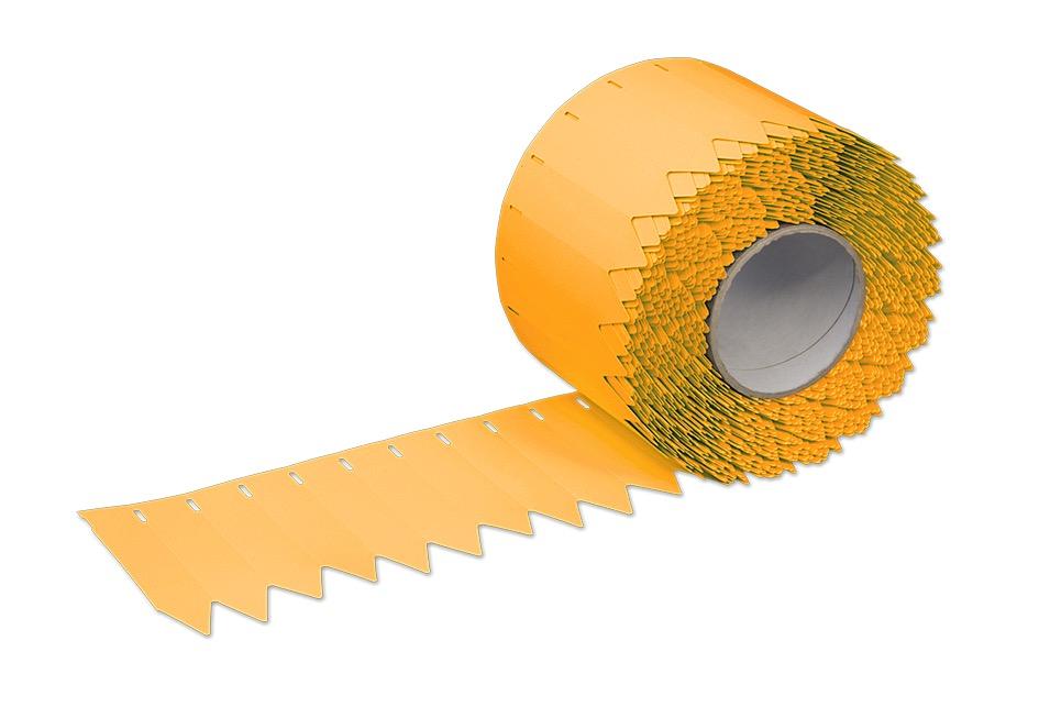 Stecketiketten aus PVC Folie 350µ, 20 x 120 mm, 76 mm Kern, 2500 Etiketten je Rolle