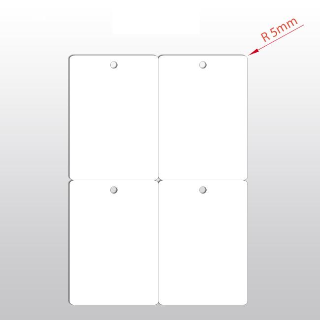 Hängeetiketten aus PET Folie, 105 x 148,5 mm, 150 my, weiß, 100 Blatt pro Packung